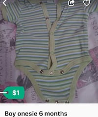 baby's white and pink stripe onesie
