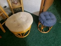 2  very stable wicker foot stools West Salem, 44287