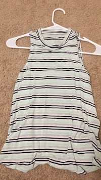 White and black striped scoop-neck tank top Powell, 43065