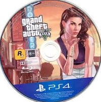 Grand Theft Auto Five PS4 game disc Alexandria, 22310