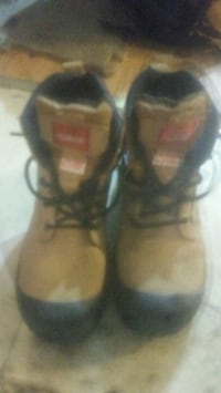 pair of brown leather hiking boots Surrey, V3T 2X7