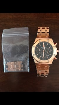 round silver chronograph watch with link bracelet El Cajon, 92021