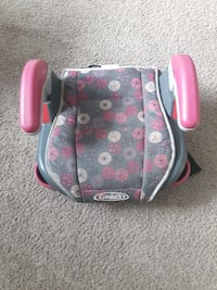 baby's gray, white, and pink floral Graco backless booster seat Edmonton, T5T 1W2