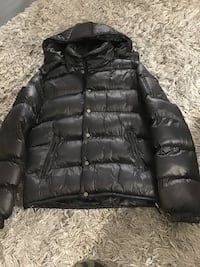 Goose Down Puff Black Lacquer Winter Jacket with Hood (Like New!) Men's L New York, 11358