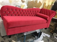 red tufted fabric sectional sofa Mississauga, L5S