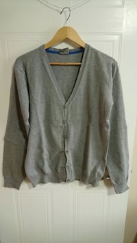Medium Slim Fit Light Grey Cardigan  London