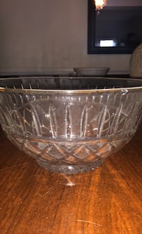Stunning, Gold Trimmed Crystal Bowl!
