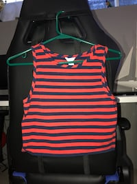 Navy Blue and Red Cropped Top Hamilton, L9A 2Y5