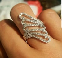 $12 NEW sz 9 or 10 silver plated CZ ring  Ballwin, 63021