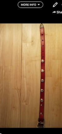 Red Leather Collar Apex, 27523