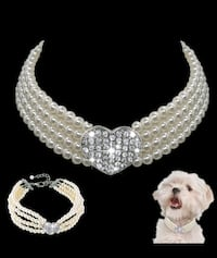 Pet Pearl Collars.  Gorgeous. new