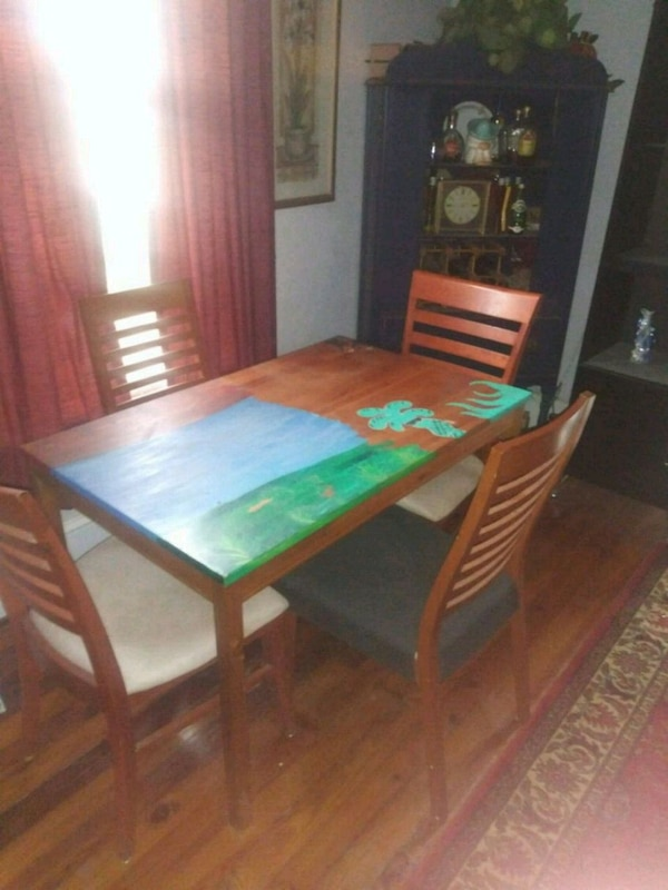 Used Dining Room Set Art Is Removable But Unique 3 For Sale In Atlanta