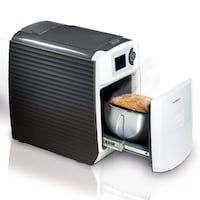Salton Easy Bread Maker, White (ES1000) BNIB  Brand new in the box.  3 simple steps to fresh bread - Fill water tank, Insert capsule, Press start Easy to operate and clean Removable water tank 24-hour programming function, including a gluten free function Toronto