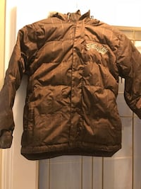 brown and black camouflage zip-up jacket 3728 km