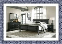 11pc black Marley bedroom set free delivery McLean