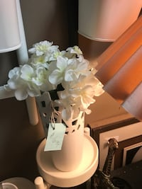 white ceramic base with flowers High Point, 27262