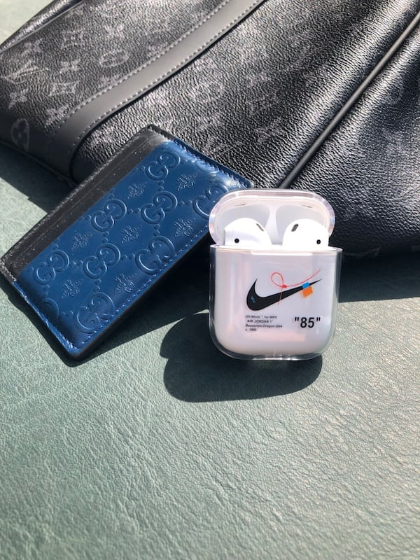 Sold Nike Off White Apple Airpods Case In Richmond Hill Letgo