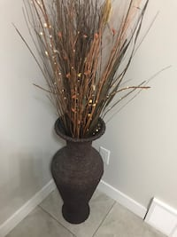 Brown wicker vase from michaels with the steaks Edmonton, T5X 6B7