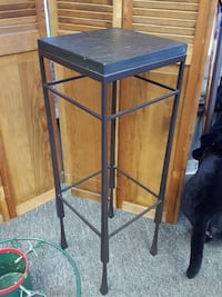 Tall All Metal Table / Plant Stand