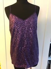 Purple sequinned tank top Size M New Westminster, V3L 0J1