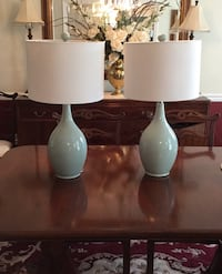 """Pair of Purcellbille 27"""" Spa Blue Table Lamps Olney, 20832"""