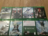 six Xbox One game cases Marshall, 20115