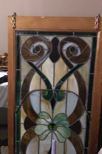 Over 75 year old stained glass piece.  Nashville, 37013
