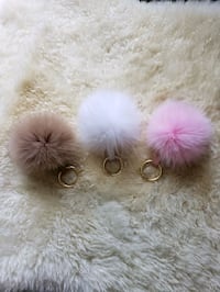 "4"" Genuine Fox Fur Pom Pom Keychain  Woodbridge, 22193"