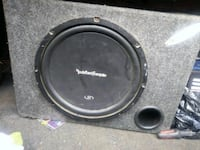 black and gray Rockford Fosgate subwoofer Bakersfield, 93305