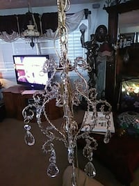 silver-colored and white uplight chandelier Las Vegas, 89110