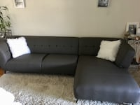 Gray leather sectional sofa  Seattle, 98107