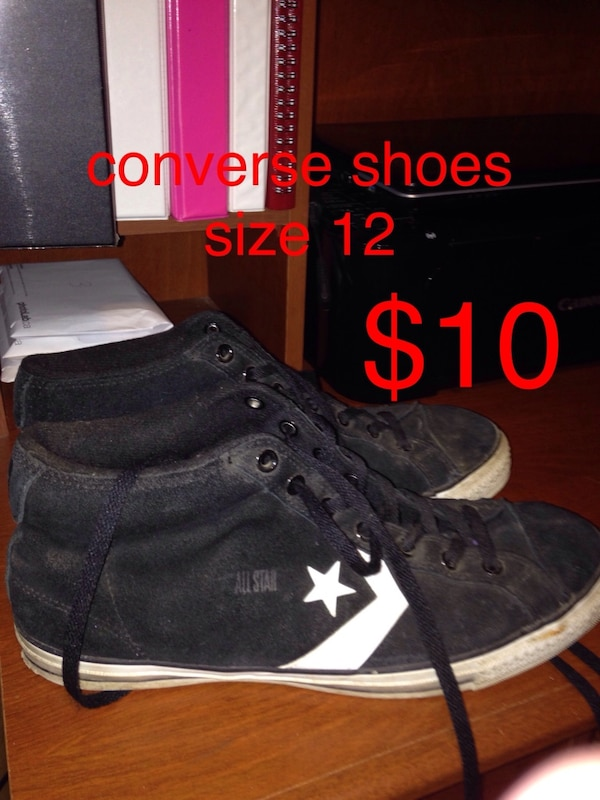 d93b42397bcb Used Black converse all star high top sneakers for sale in Malahide - letgo