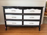 Black and white wooden dresser Vancouver