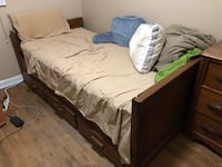 Single Bed with Trundle Solid Wood Silver Spring, 20901
