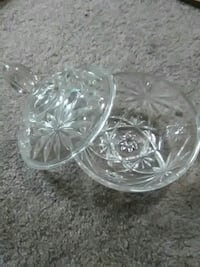 clear cut glass dish with lid Omaha, 68164