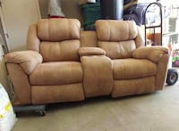 Brown leather home theater sofa Tucson, 85756