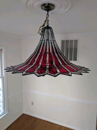 Stained glass light fixture Cheverly