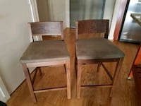 two brown wooden framed gray padded chairs Washington, 20004
