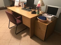 Desk -filing and chair