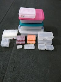 white, blue, and pink plastic Storage boxes Olney, 20832