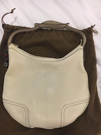 Authentic Gucci Leather Hobo Bag (Ivory) Toronto