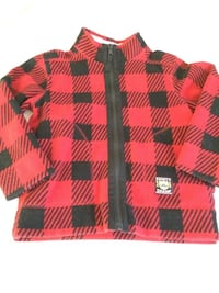 Carter's  Red & Black Plaid, Fleece Zip-Up  Flleece, Size 4
