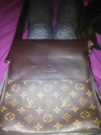 black and brown Louis Vuitton leather crossbody bag Calgary, T1Y 5N7