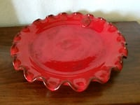 "Red Decorative Plate 15"" Springdale, 72762"