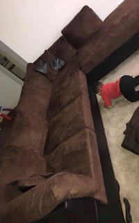 Long sectional light brown with foot rest Newport News, 23608