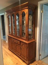 Solid Oak Hutch and Buffet TORONTO