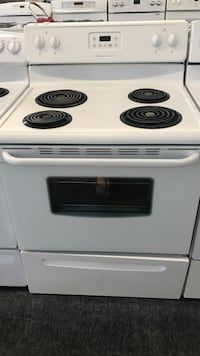 white and black 4-coil electric range oven Toronto, M3J