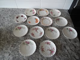 An array of tea cup saucers all for $5 PU Morinville