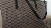 gray and black Michael Kors monogram tote bag Fresno, 93704
