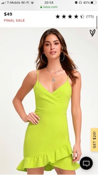 New with Lulus sealed with a kiss bodycon dress lime green Arlington, 22202